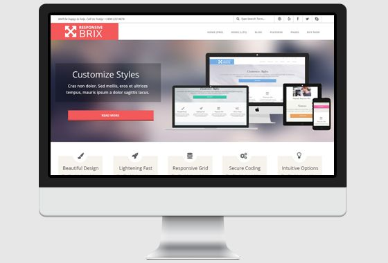 Responsive Brix WordPress Theme   wpHoot