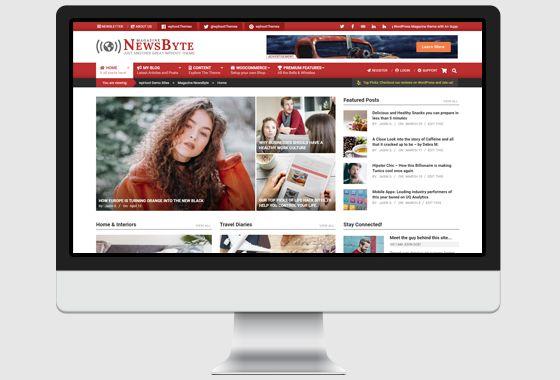 Magazine News Byte WordPress Theme - wpHoot